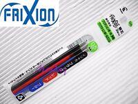 9 x refills Pilot Frixion LFBTRF30EF 0.5mm Erasable Roller Ball Pen, 3BK+3L+3R