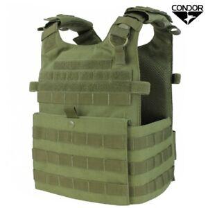 Gilet Tattico Plate Carrier Tactical Vest CONDOR Gunner Lightweight Verde OD