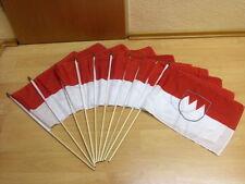 Fahnen Flagge 10 x Franken Stockflagge 30 x 45 cm
