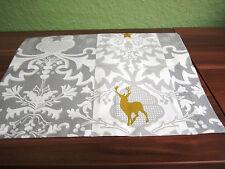 Proflax Läufer Tischläufer Marlin Hirsch grau Weihnachten Decke 55 x 154 cm Neu