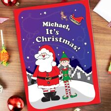 Personalised children's Christmas Story Elf Christmas Story Book Xmas Gifts