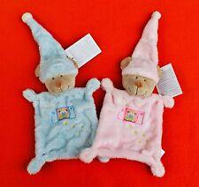 NEU Nicotoy Simba Toys 1 x Kuscheltuch BÄR TEDDY Mütze blau o. rosa Schmusetuch