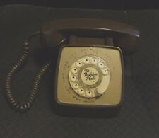 Vintage Gte Brown Rotary Dial Desk Phone Telephone