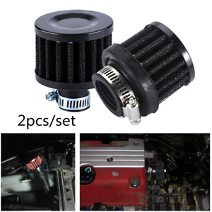 Universal 25mm Car Ram Cold Air Intake Filter Cone Air Filter Respirator Kit 2pc