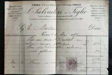 1895+Salvadori e Figlio+Firenze+Marca da bollo+Tapisseries+Broderies anciennes