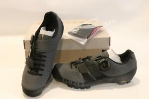 New Giro Code Techlace Mountain Bike Shoes 39.5 7 Carbon Men's Dark Shadow Black