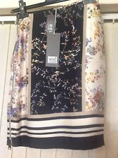 Suivante Printed Skirt Full Zip On Side Size-8 New With Tags
