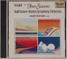 VIVALDI: Four Seasons, Silverstein Violin Telarc USA 1990 CD NM Ozawa