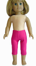 "Fits 18"" American Girl Doll Clothes Fuchsia Pink Knit Capri Leggings"