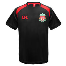 Liverpool FC Official Football Gift Mens Poly Training Kit T Shirt Black XL