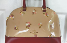 New Coach 31354 mini Sierra Satchel Patent Leather BBY Bouquet Beechwood multi