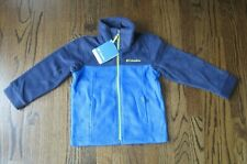 Columbia Boy Blue Flattop Ridge Zipper Fleece Jacket US XXS 4/5 NWT