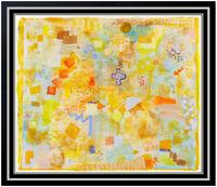ROBERT NATKIN Original Acrylic PAINTING Abstract Art Rare SIGNED BY HIM 4 TIMES