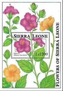 VINTAGE CLASSICS - Sierra Leone 1671 - Flowers - Souvenir Sheet - MNH