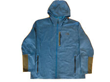 Men's The North Face Size XXL Blue Active Wear Full Zip Hooded Fleece Jacket