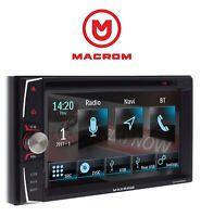 MACROM M-DVD6000L 2DIN AUTORADIO NAVIGAZIONE USB CD DVD BLUETOOTH AUTO CAMPER