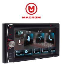 MACROM M-DVD6000L 2DIN AUTORADIO NAVIGAZIONE USB CD DVD BLUETOOTH > GARANZIA