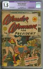WONDER WOMAN #7 CGC 1.5 OW/WH PAGES // GOLDEN AGE WONDER WOMAN PRESIDENT 1943