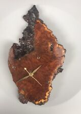 Unusual  Redwood Modern Burl Wall Clock