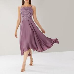 Coast - Janie Lace Midi Dress - Mist (Purple) - Size 14 (Brand New With Tag)