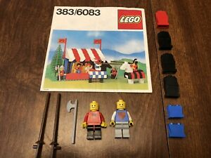 Vintage Lego Castle Kings Knights Tournament 383/6083 Instructions Mini figures