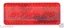 REAR RED STICK ON ADHESIVE REFLECTOR RECTANGULAR TRUCK CAR MOTORCYCLE MOTORBIKE