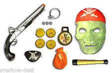 Pirates Props Skull Mask Battery Gun Pistol Plastic Eye Patch Toys for Kids
