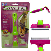 2PET Fwiper deShedding Grooming Brush for Small Medium and Large Dogs or Cats