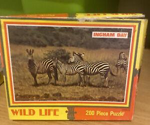 Vintage Ingham Day 200 Piece Jigsaw Wildlife Zebras
