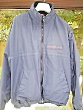 HENRI LLOYD MENS NAVY FLEECE LINED JACKET IN GOOD USED CONDITION - SMALL