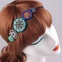 Handmade Beads Elastic Headbands Hair Accessories for Women_