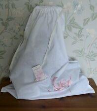 Pretty Laura Ashley Honeysuckle Cotton & Linen Embroidered Laundry/Storage Bag