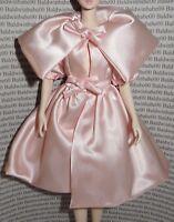 COAT ~MATTEL BARBIE DOLL SILKSTONE BLUSH BEAUTY PALE PINK SATIN CAPE DRESS TOP