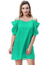 Women Off Shoulder Strappy Mini Dress Beach Clubwear Party Short Dresses Summer