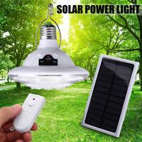E27 22 LED solar lámpara Hiking Tent Light outdoor jardín Luz Remote Control