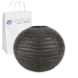 """25 pcs 16"""" inch Chinese Paper Lantern - Black - Wedding Party Event nr"""
