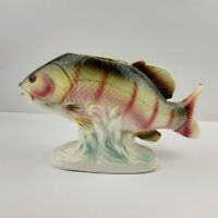 Vintage Lefton Red Snapper Fish Planter Vase  #4666.