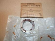 """Pack of 25 Steel Spacing Washers, 1.1/8""""x1.5/8""""x0.005"""", Ex Harrison Lathe Works"""