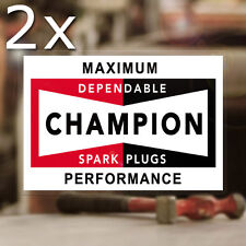 """2x pieces Champion Spark Plugs sticker decal old school hot rod holley stp 3.25"""""""