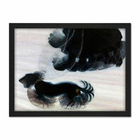 Balla Dynamism Dog Leash Dashund Painting Large Framed Art Print