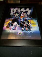 KISS M&M's Rare Original Promo Poster Ad Framed!