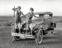 Vintage Flappers Swimsuits Photo 1923 Peerless Auto Car Jazz Prohibition era