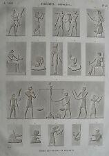 THEBES. HYPOGEES. (pl. 46, A. vol. II).Divers bas reliefs...  DESCRIPTION EGYPTE
