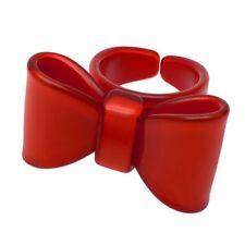 1 Schleifenring Retro Rockabilly Gothik Damenring Fingerring Ring Schleife rot