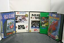 Set of 5 Sega Genesis Games NHL94,95,Pro Quarterback,Hard Drivin,&Super MonacoGP