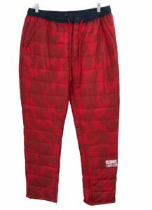 Billionaire Boys Club Mens Snow Puffer Pants Red Camouflage Drawstring 2XL New