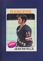 Jean Ratelle HOF 1975-76 TOPPS Hockey #243 (NM) New York Rangers