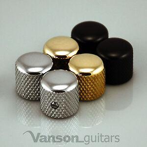 2 x NEW Vanson Rounded Screw Knobs for Fender® Telecaster®, Tele® guitar, VS003