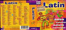 COFFRET 8 CD 'S LATIN ONLY 112T SALSA/BOLERO/CUMBIA/MERENGUE ETC