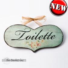 """""""TOILETTE"""". in Legno Placca Muro/Firmare/Bagno Nuovo"""